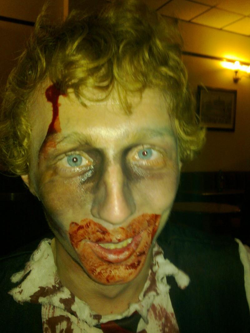 Steven as a zombie